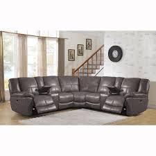 Grey Sofa Recliner Furniture Magician Gray Leather Reclining Sofa