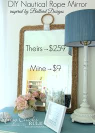 clever cinderella mirror on the wall i found some more mirrors diy nautical rope mirror artsy chicks interior ceiling designs plan a room walk
