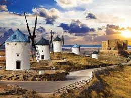 the history of spain land on a crossroad