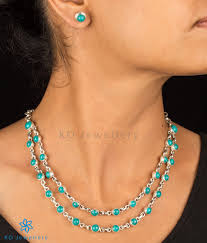 turquoise necklace set images Prisha silver turquoise necklace order officewear necklaces online jpg
