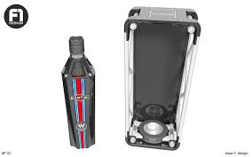 martini design williams martini racing limited edition bottle concept on