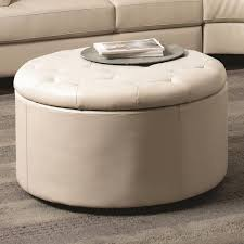 Large Square Storage Ottoman Sofa Cream Ottoman Coffee Table Small Round Leather Ottoman