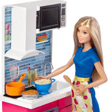 Barbie Kitchen Furniture Barbie Doll And Furniture Kitchen Playset Toys