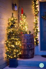 Christmas Home Decorating Ideas Martha Stewart Christmas Home Tour Outdoor Entryway