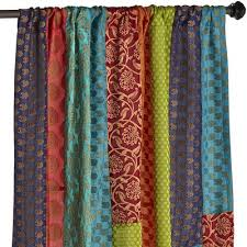 Pier One Drapes Sari Patchwork Curtain Pier 1 Imports
