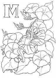 alphabet elf letter x coloring pages blooming flowers lover elf