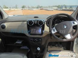 renault india renault lodgy has touchscreen media nav system 2 tone dash
