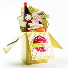 cute happy birthday card in a box for kids diy 3d pop up box card