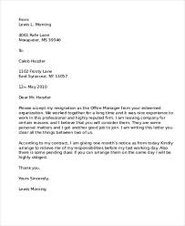 job resignation letter format doc letter idea 2018