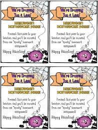 halloween homework pass printable u2013 festival collections