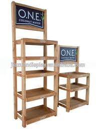 3 layer wooden beverage wine display unit rack shelf beer display