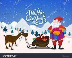 merry celebration illustration santa claus stock vector