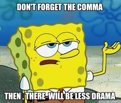 Comma Meme - t forget the comma