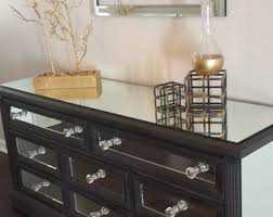 Mirrored Dressers And Nightstands Glamorous And Unique Mirrored Furniture By Mirroredjewels On Etsy