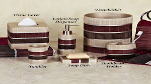 Red And Black Bathroom Accessories Sets Modern Bathroom Bath Accessories Glamorous Red Bathroom