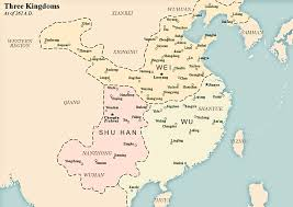 Blank Ancient China Map by Cao Wei Wikipedia
