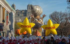 start of thanksgiving big balloons heavy security for nyc thanksgiving parade kval