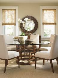 glass breakfast table set modern dining room table round pedestal dining table white glass