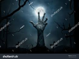 halloween background party scenes halloween concept zombie hand rising out stock photo 185032865