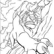 scar scares simba coloring pages hellokids