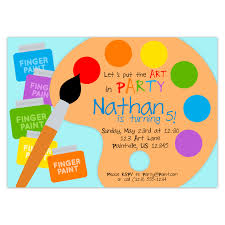 free rainbow birthday invitations art party invitation rainbow paint pallet little artist