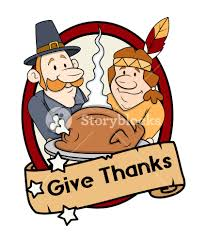 thanksgiving day characters greeting banner royalty free stock