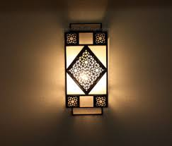 Moroccan Sconce Moroccan Metal Wall Sconce With White Glass From Badia Design Inc