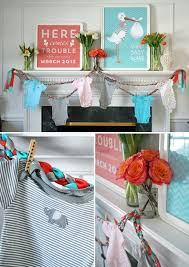 coral baby shower a chic baby shower in aqua and coral the umbrella