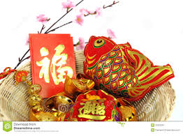 new year items new year decoration items stock image image of fish