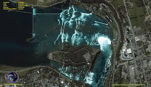 Niagra Falls Map Ikonos Satellite Image Of Niagara Falls Satellite Imaging Corp