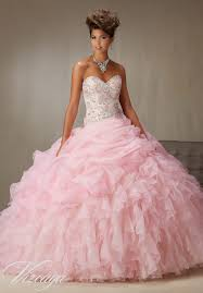 quinceanera pink dresses quinceanera dresses by vizcaya billowy ruffled organza skirt with