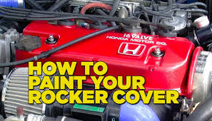 mighty car mods how to paint your rocker cover youtube