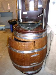 Whiskey Barrel Kitchen Table Barrel Sink See These Rustic Wine And Whiskey Barrels Make