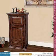 Distressed Wood Bar Cabinet Distressed Finish Cherry Wine Spirits Storage Cabinet Cognac