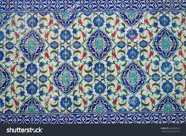 Ottoman Tiles Ancient Made Turkish Ottoman Tiles Stock Photo 136283672