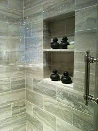 shower niche tile ideas travertine with a and bench idolza