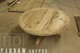 reclaimed wood round coffee table round reclaimed wood cottage coffee table blog