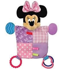 amazon disney baby minnie mouse snuggle blanky baby plush