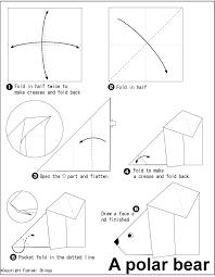origami polar bear folding instructions easy origami polar bear
