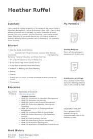 Wedding Resume Sample Event Manager Resume Samples Visualcv Resume Samples Database