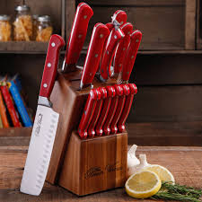 the 14pc pioneer woman cowboy rustic cutlery kitchen knife set red picture 1 of 6