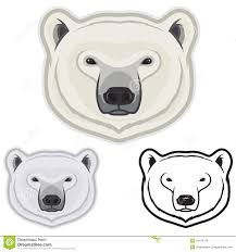 polar bear faces stock illustration image 42474378