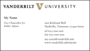 Business Letter Mailing Address Format Stationery Examples Graphic Standards Vanderbilt University