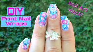 nail art hack diy print nail wraps youtube