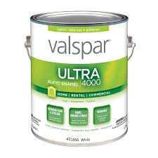 shop valspar ultra 4000 white satin oil based enamel interior