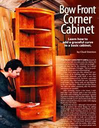 Red Corner Cabinet Bow Front Corner Cabinet Plans U2022 Woodarchivist