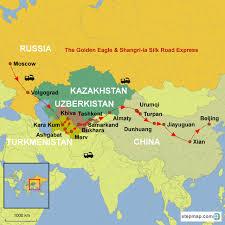 Silk Road Map Across The Silk Road Rail Journeys With Golden Eagle U0026 Shangri La