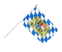Lion Flag Hand Waving Flag Bavaria Lion 12x18
