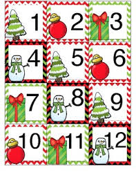 christmas calendar cards by mama in the middle east tpt