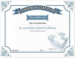 business certificate templates for ms word professional